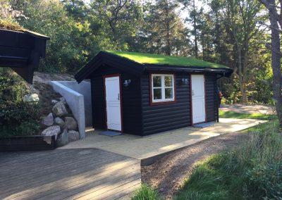 Nybygget gæstehus i Fårevejle